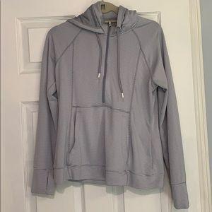 Athleta Half-Zip grey Hoody L